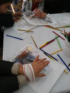 Algunos participantes en los talleres